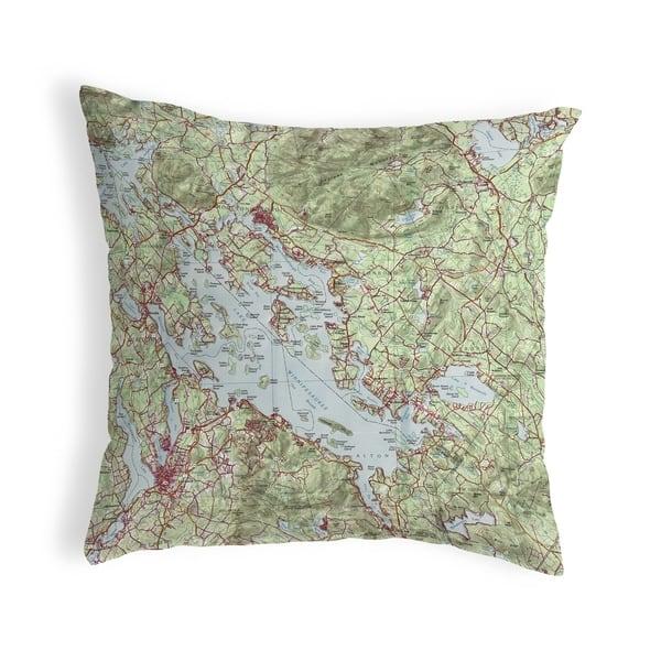 Lake Winnipesaukee Nh Nautical Map Noncorded Pillow 18x18 On Sale Overstock 22878680
