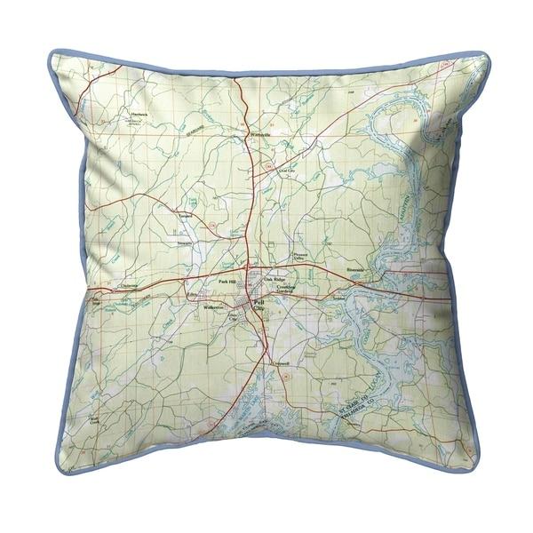 Logan Martin Lake, AL Nautical Map Small Corded Pillow 12x12