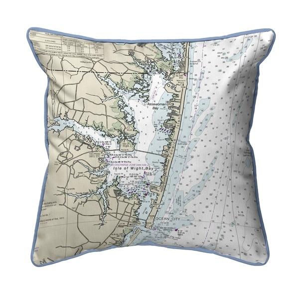 Fenwick Island to Chincoteague, VA Nautical Map Extra Large Zippered Pillow