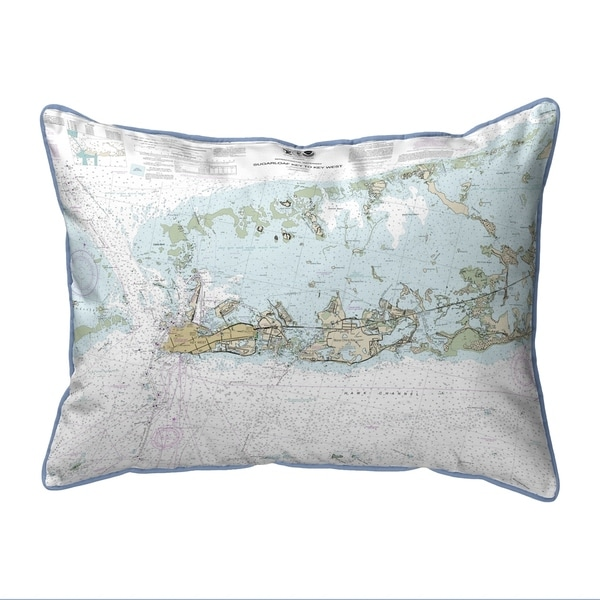 Sugarloaf Key to Key West, FL Nautical Map Extra Large Zippered Pillow