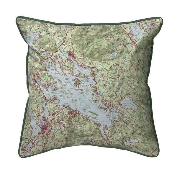 Lake Winnipesaukee, NH Nautical Map Small Pillow 12x12