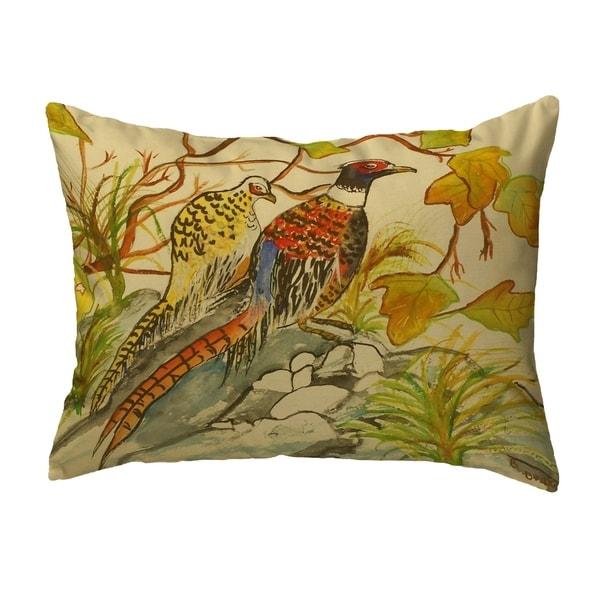 Pheasant Noncorded Pillow 16x20