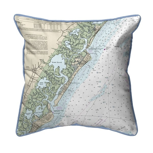 Little Egg Inlet to Hereford- Avalon, NH Nautical Map Extra Large Zippered Pillow