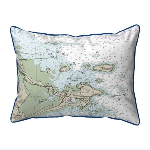 Biddleford Pool, ME Nautical Map Extra Large Zippered Pillow