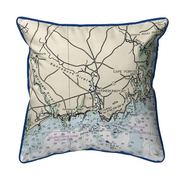 Kennebunckport, ME Nautical Map Extra Large Zippered Pillow