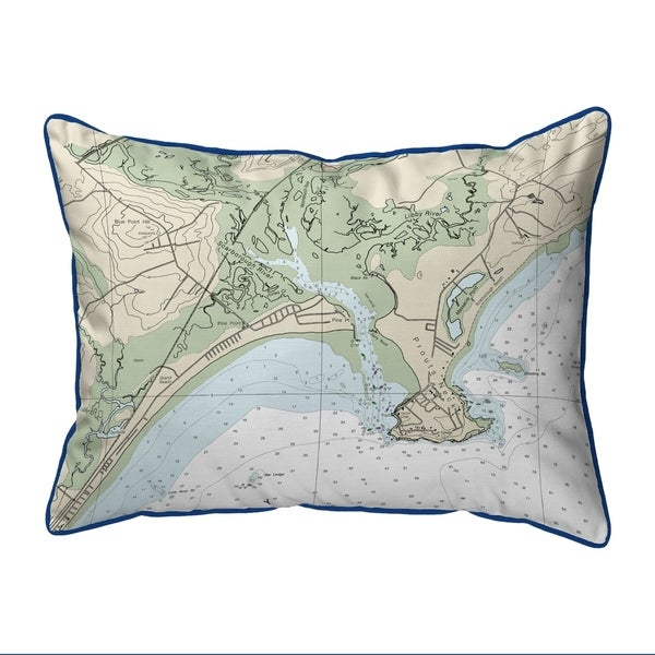 Pine Point, ME Nautical Map Extra Large Zippered Pillow