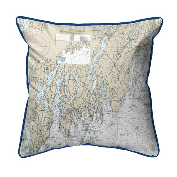 Southport - Pemaquid, ME Nautical Map Zippered Pillow