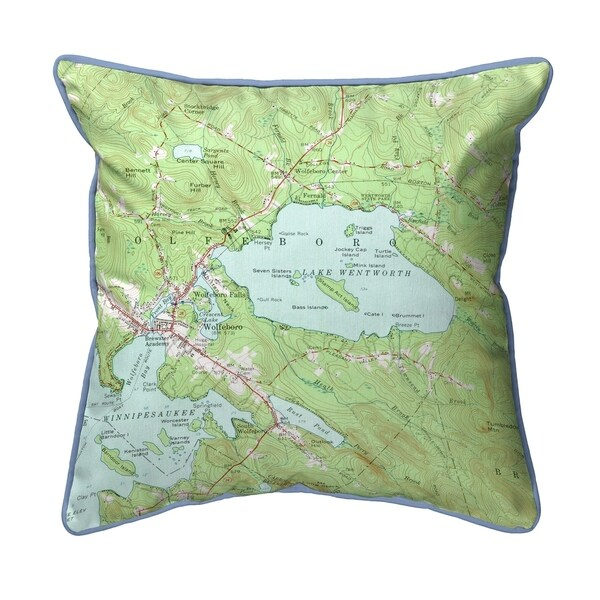 Lake Wentworth, NH Nautical Map Extra Large Zippered Pillow