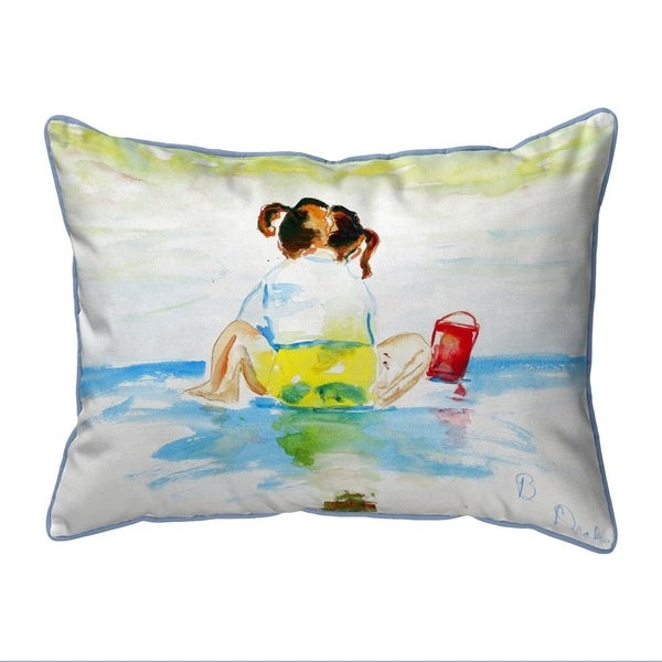 Pigtails Playing Extra Large Zippered Indoor/Outdoor Pillow 20x24