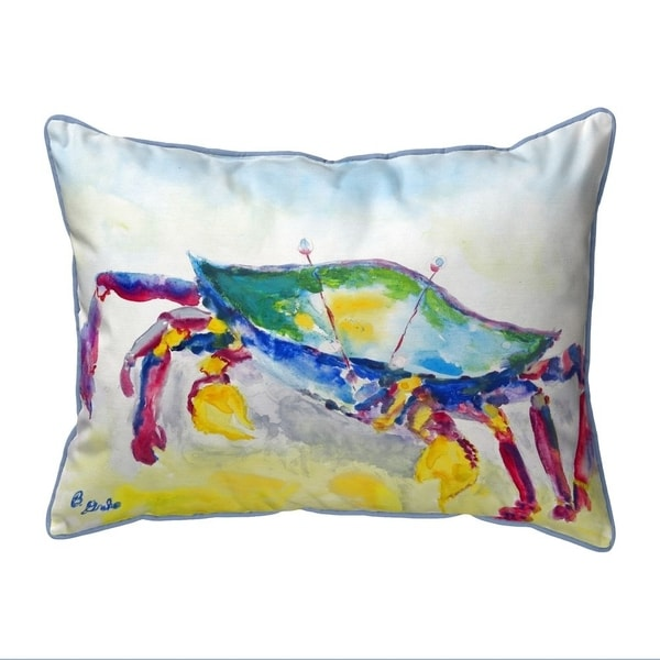 Crawling Crab Extra Large Zippered Indoor/Outdoor Pillow 20x24
