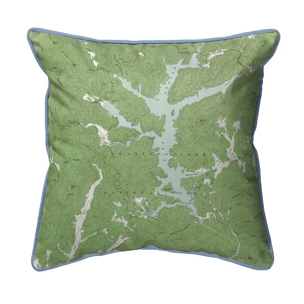 Burton Lake, GA Nautical Map Extra Large Zippered Pillow