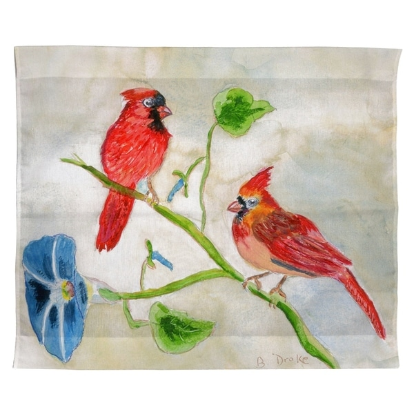 Betsy's Cardinals Outdoor Wall Hanging 24x30