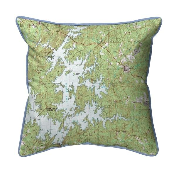Lake Martin, AL Nautical Map Extra Large Zippered Pillow