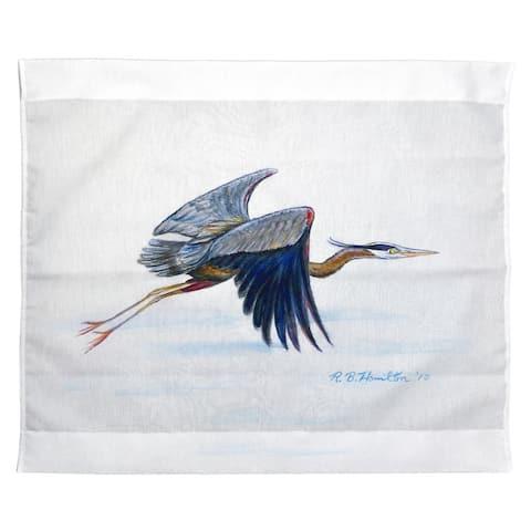 Eddie's Blue Heron Outdoor Wall Hanging 24x30