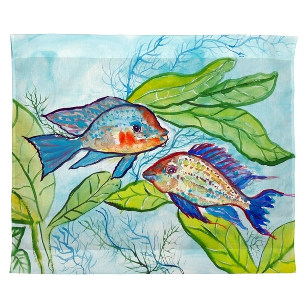 Pair of Fish Outdoor Wall Hanging 24x30