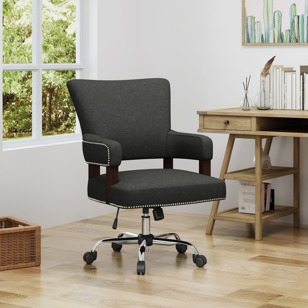 Shop Bonaparte Traditional Home Office Chair By Christopher Knight Home On Sale Overstock 22880127