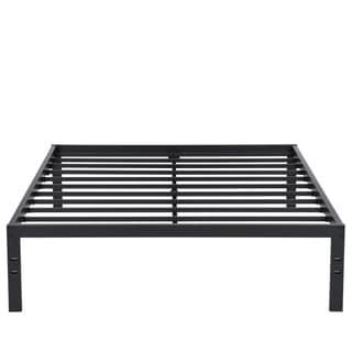 Sleeplanner 14-inch Queen Dura Steel Slate Bed Frame, Black S-3500