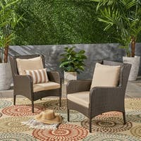 Adelaide Outdoor Wicker Club Chairs (Set of 2) by Christopher Knight Home