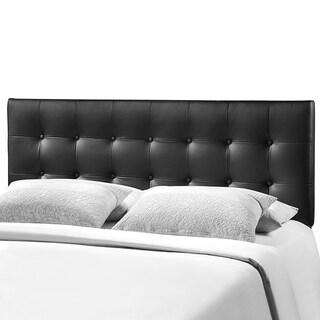 Heritage Stylish Black Upholstered King Size Headboard
