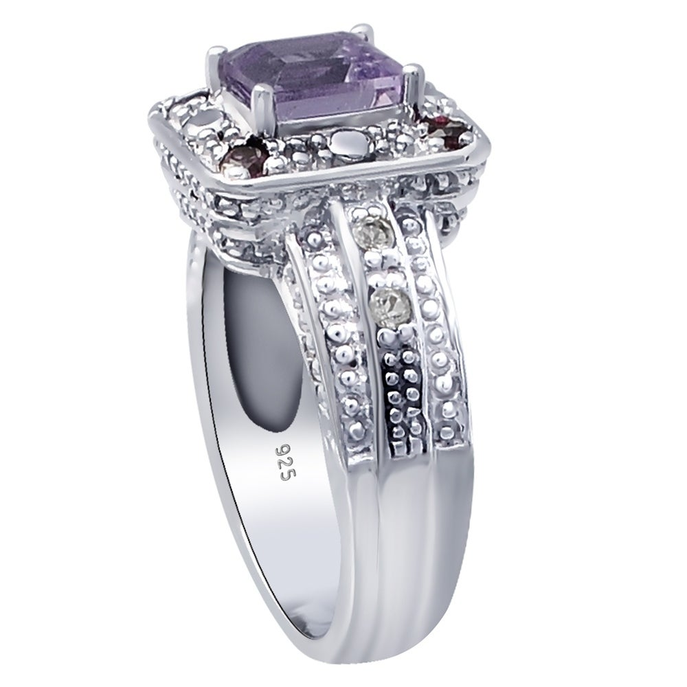 925 Sterling Silver Handmade Designer Ring Jewelry Size US 8 ar6428 Amethyst Red Garnet Oval Pear Shape Gemstone Ring For Easter Gift