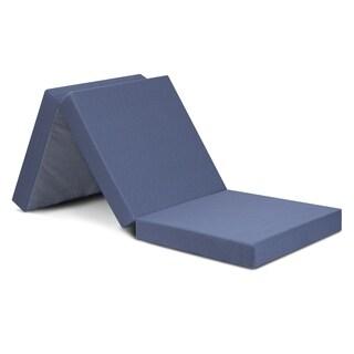 Sleeplanner 4-inch Tri-Fold Memory Foam Mattress, Single, Gray