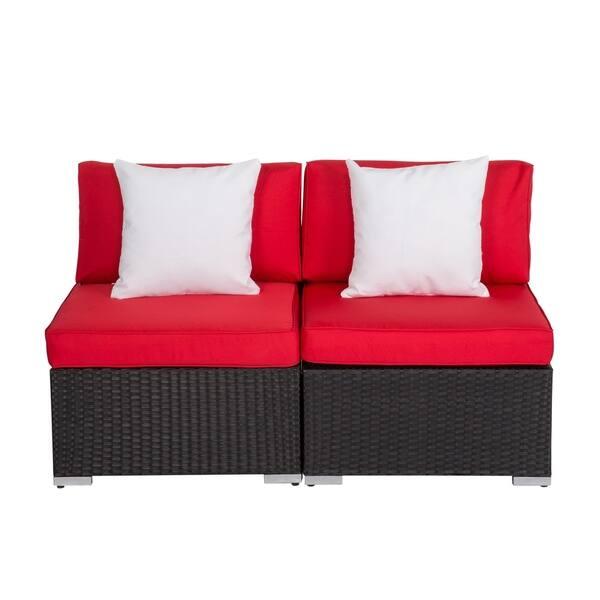 Shop Kinbor Patio Sectional Sofa Outdoor Furniture Wicker ...