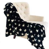 Plutus Black and White Stars Soft Handmade Luxury Throw