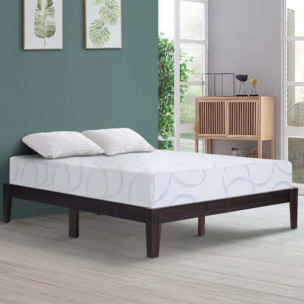 Shop Sleeplanner 14 Inch Solid Wood Platform Bed Frame