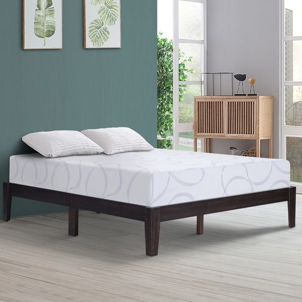Shop Sleeplanner 14 Inch Deluxe Solid Wood Bed Frame King