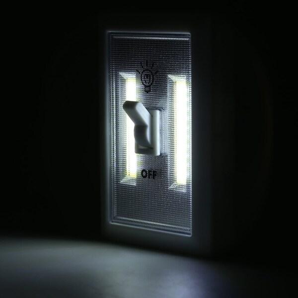 12pcs Magnetic Base Light Switch Wall Mounted Cordless Night Lamp
