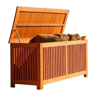 Vifah Bresa Outdoor and Indoor Eucalyptus Hardwood Storage Box