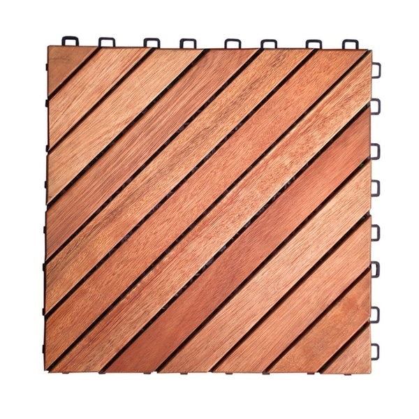 Shop Vifah Outdoor Patio 12 Diagonal Slat Eucalyptus