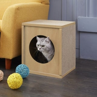 Handmade Way Basics Cat Scratcher Cube and Cat House (Taiwan)