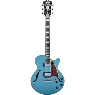 D'Angelico Premier SS Semi-Hollow Electric Guitar w/ Stop-Bar Tailpiece - Ocean Turquoise
