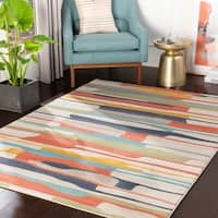 Joaquin Multicolor Contemporary Area Rug - 7'10 x 10'3