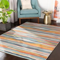 "Colton Orange Wavy Stripes Area Rug - 7'10"" x 10'3"""