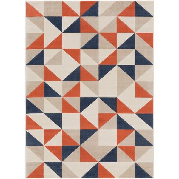 Thiago Burnt Orange Geometric Area Rug 7 10 X 10 3 On Sale Overstock 22882822
