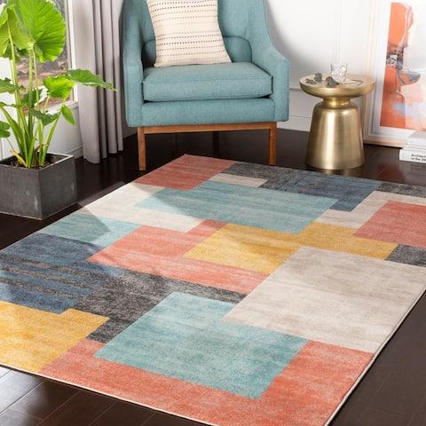 """Steven Multicolor Contemporary Area Rug - 8'8"""" x 12'3"""""""