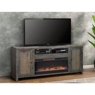 Carbon Loft Pendragon Barnwood 84-inch Fireplace Console
