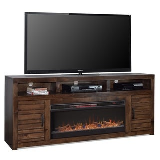 Carbon Loft Grimm Whiskey Alder 78-inch Fireplace Console