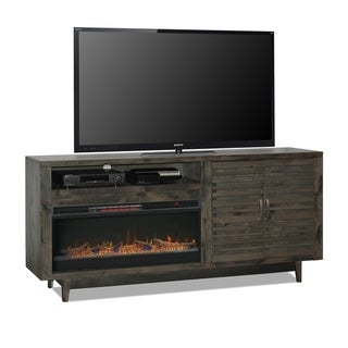 Carbon Loft Solling 84-inch Charcoal Fireplace Console