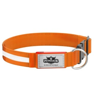 LED Medium Dog Collar Night Visibility and Safety- Adjustable, Rechargeable, 3 Flash ModeS PETMAKER