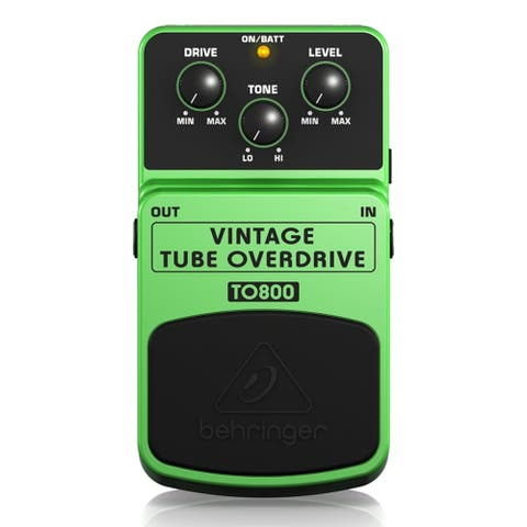 Behringer VINTAGE TUBE OVERDRIVE TO800 Vintage Tube-Sound Overdrive Effects Pedal