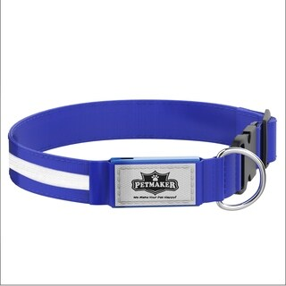 LED Small Dog Collar Night Visibility and Safety- Adjustable, Rechargeable, 3 Flash Modes PETMAKER