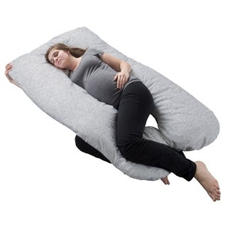 Pregnancy Pillow- Full Body Maternity Pillow with Removable Cover U-Shape Design Lavish Home Collection