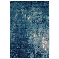 Batik Collection Midnight Dream Multitone Blue Modern Abstract Area Rug - 7'10 x 10'