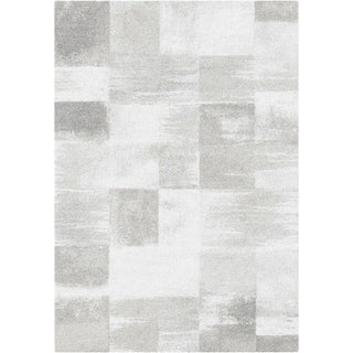 "Steel Patchwork Grey Area Rug - 6'6"" x 9'6"""