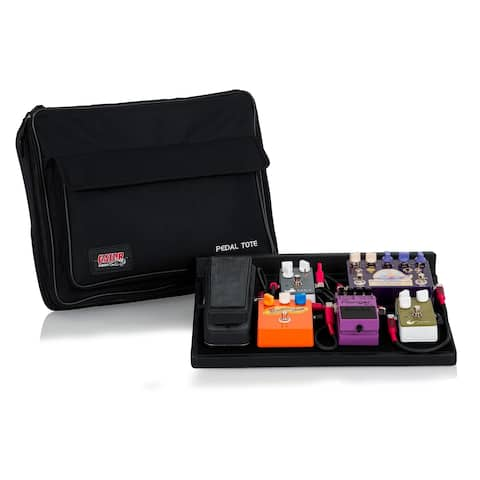 Gator Pedal Tote with built in G-Bus-8-US 9v & 18v Multi-Output DC Power Source, Black, GPT-BL-PWR