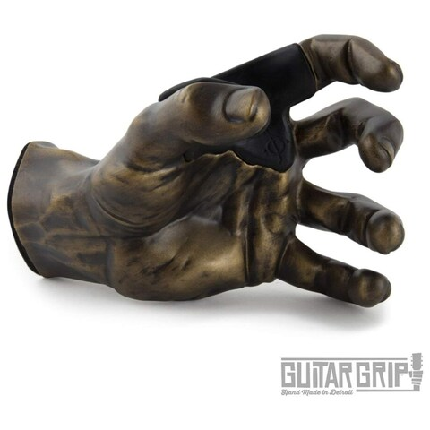 GuitarGrip Male Antique Grip, Right-Handed, Brass - N/A