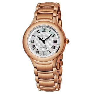 Frederique Constant Women's FC-303M4ER4B 'Delight' Silver Dial Rose Goldtone Stainless Steel Swiss Automatic Watch